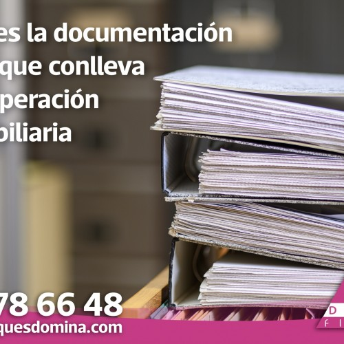 La documentación legal de una operación inmobiliaria